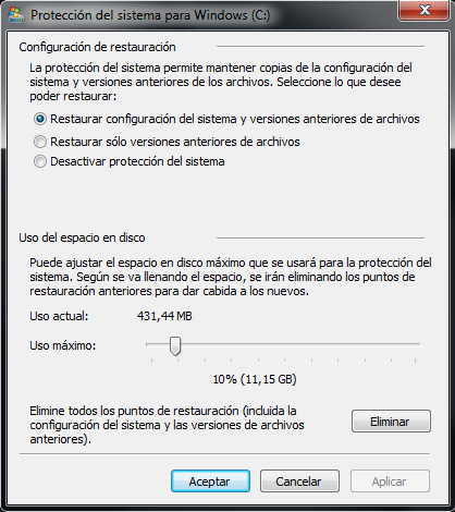 Configuracion de copias de seguridad en windows 7